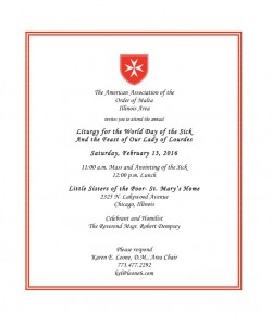 Order of Malta mass invite